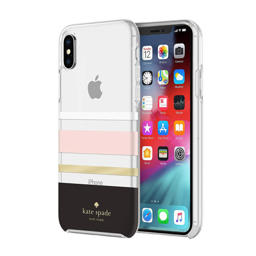 Kate Spade - Hardshell Case for Apple iPhone Xs Max - Charlotte Stripe