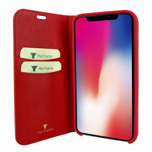 Piel Frama 808 Red FramaSlimCards Leather Case for Apple iPhone Xs Max