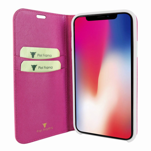 Piel Frama 808 Pink FramaSlimCards Leather Case for Apple iPhone Xs Max