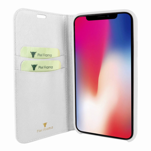 Piel Frama 808 White FramaSlimCards Leather Case for Apple iPhone Xs Max