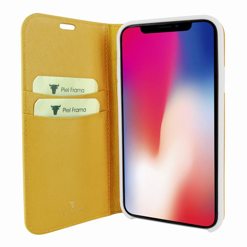 Piel Frama 808 Yellow FramaSlimCards Leather Case for Apple iPhone Xs Max