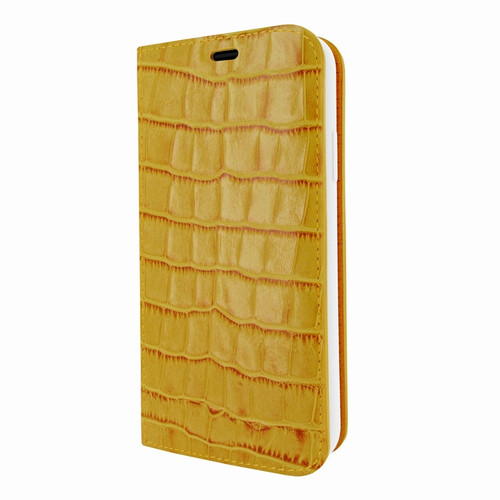 Piel Frama 808 Yellow Crocodile FramaSlimCards Leather Case for Apple iPhone Xs Max