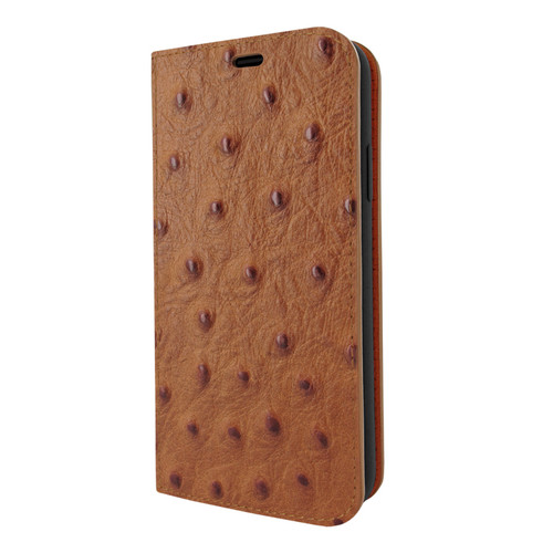 Piel Frama 808 Tan Ostrich FramaSlimCards Leather Case for Apple iPhone Xs Max