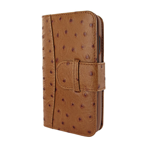 Piel Frama 810 Tan Ostrich WalletMagnum Leather Case for Apple iPhone Xs Max