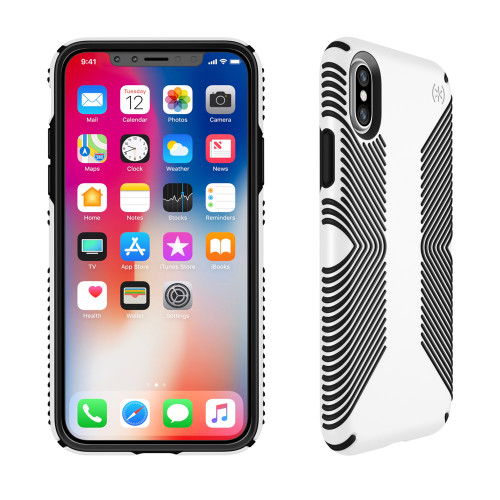 Speck - Presidio Grip Case for Apple iPhone Xs  /  X - White and Black