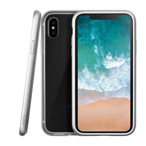 LAUT EXOFRAME Aluminium Hybrid Case for iPhone X - Silver
