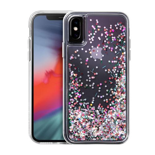 LAUT - CONFETTI Series for iPhone XS / iPhone X |Glistening Confetti Glitter (Confetti Pastel)
