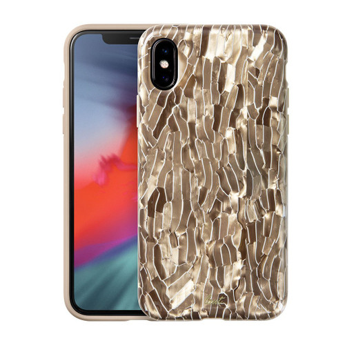 LAUT - Pearl Series for iPhone XS Max | Mother of Pearl Phone Case | Pearl Phone Case | 3D  Sensational Case (Champagne)