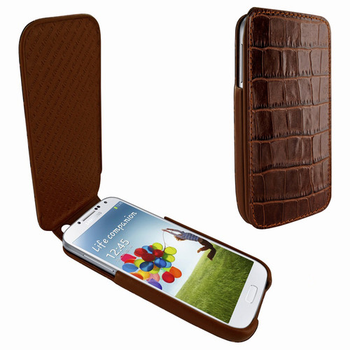 Piel Frama 618 iMagnum Brown Crocodile Leather Case for Samsung Galaxy S4