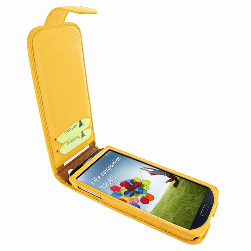 Piel Frama 620 Yellow Magnetic Leather Case for Samsung Galaxy S4