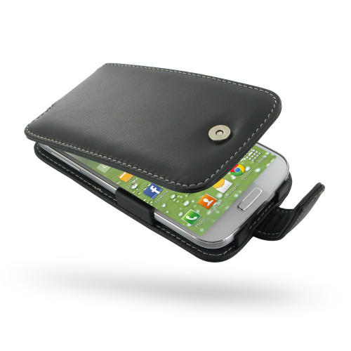 PDair Black Leather Flip-Style Case for Samsung Galaxy S4
