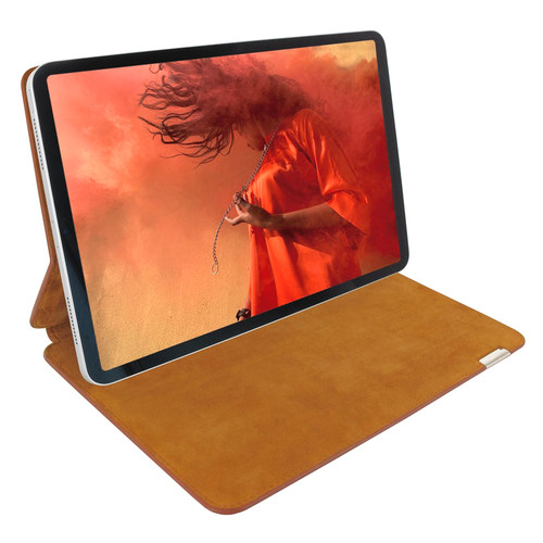 "Piel Frama 819 Tan Ostrich FramaSlim Leather Case for Apple iPad Pro 12.9"" (2018)"