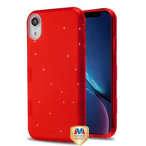 iPhone Xr Red Full Glitter TUFF Hybrid Protector Cover (with Package)