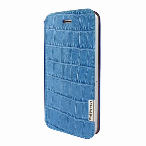 Piel Frama 639 Blue Crocodile FramaSlim Leather Case for Apple iPhone 5 / 5S / SE