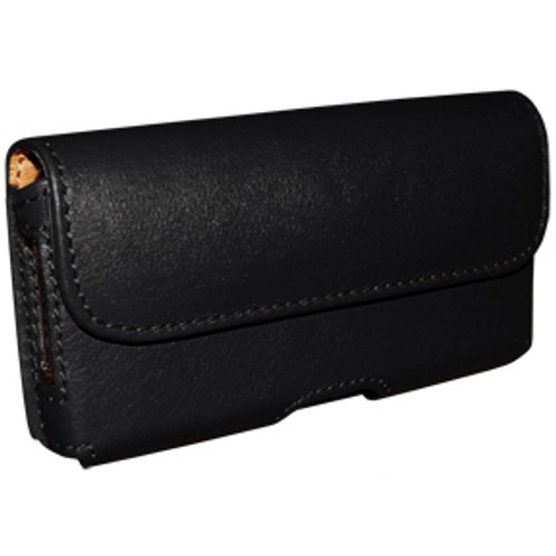 Piel Frama 986 Black Leather Horizontal Pouch for Apple iPhone / 3G / 3GS / 4 / 4S