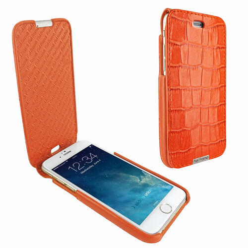 Piel Frama 676 Orange Crocodile iMagnum Leather Case for Apple iPhone 6 / 6S / 7 / 8