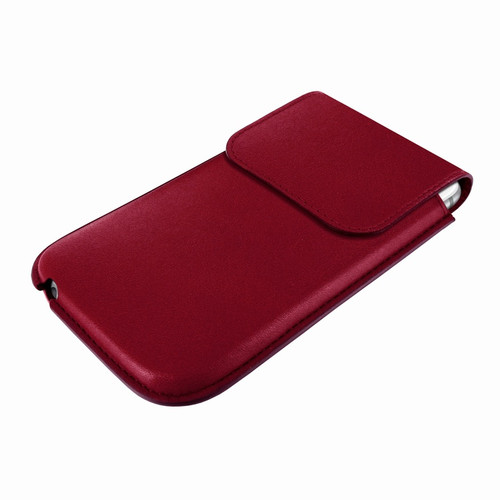 Piel Frama 681 Burgundy Leather Slim Pouch for Apple iPhone 6 / 6S / 7
