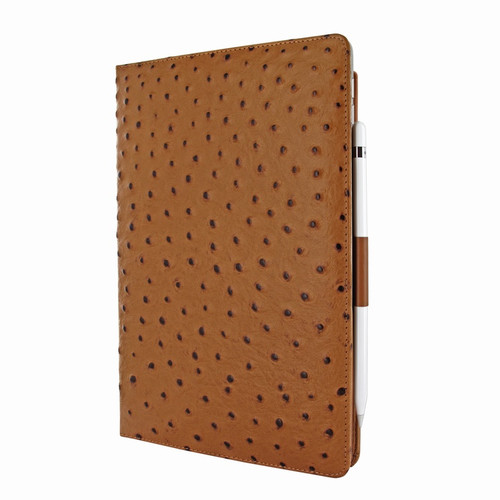 Piel Frama 823 Tan Ostrich Cinema Magnetic Leather Case for Apple iPad Air (2019)