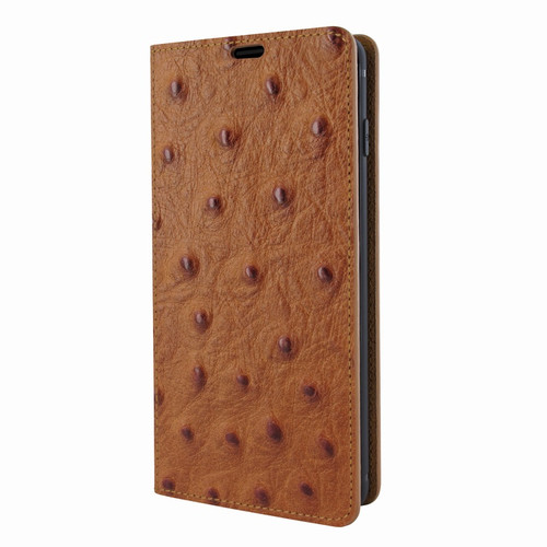 Piel Frama 820 Tan Ostrich FramaSlimCards Leather Case for Samsung Galaxy S10
