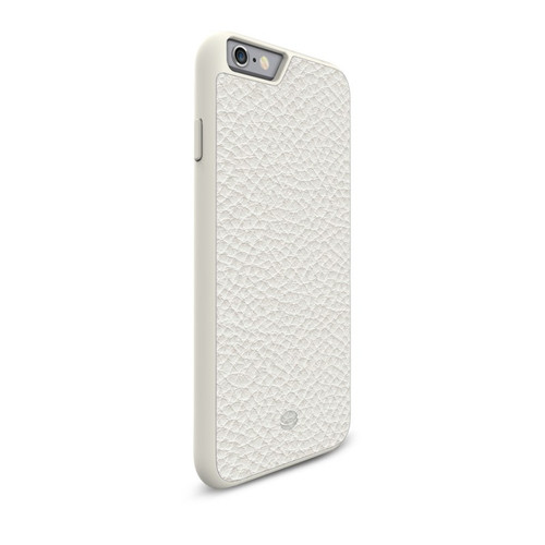 Beyza Bela Cream MALY Hard Shell with Leather Case for iPhone 6