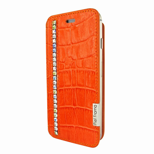 Piel Frama 686 Orange Swarovski Crocodile FramaSlim Leather Case for Apple iPhone 6 Plus / 6S Plus
