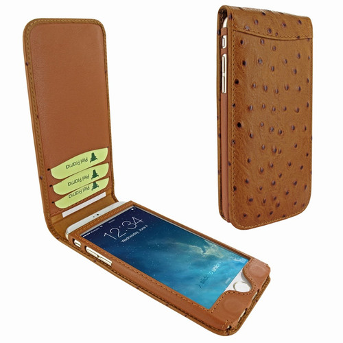 Piel Frama 689 Tan Ostrich Magnetic Leather Case for Apple iPhone 6 Plus / 6S Plus