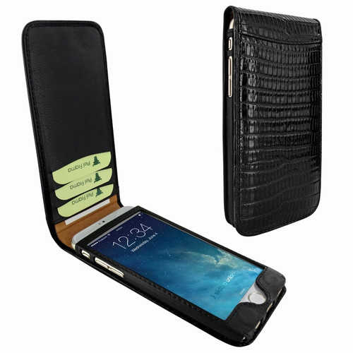 Piel Frama 689 Black Lizard Magnetic Leather Case for Apple iPhone 6 Plus / 6S Plus