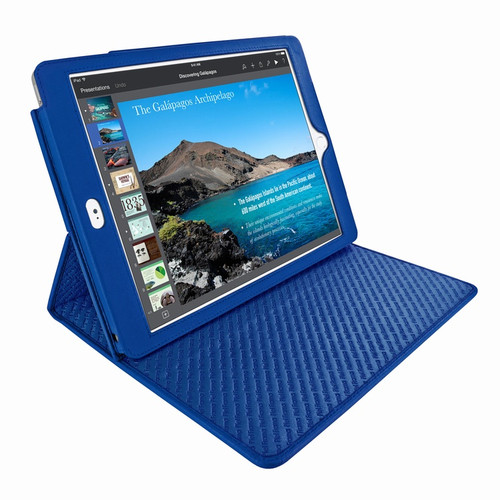 "Piel Frama 694 Blue Cinema Magnetic Leather Case for Apple iPad Air 2 / iPad 9.7"" 2017 