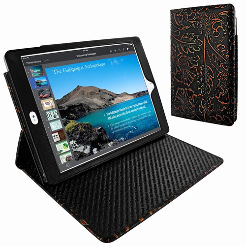 "Piel Frama 694 Black Nspire Cinema Magnetic Leather Case for Apple iPad Air 2 / iPad 9.7"" 2017 | 2018"
