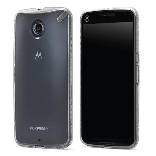 PureGear Clear Slim Shell Case for Google Nexus 6