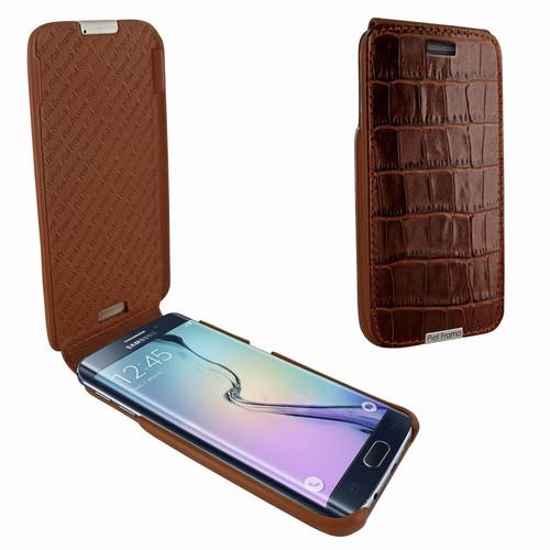 Piel Frama 714 Brown Crocodile iMagnum Leather Case for Samsung Galaxy S6 Edge