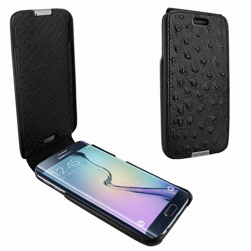 Piel Frama 714 Black Ostrich iMagnum Leather Case for Samsung Galaxy S6 Edge