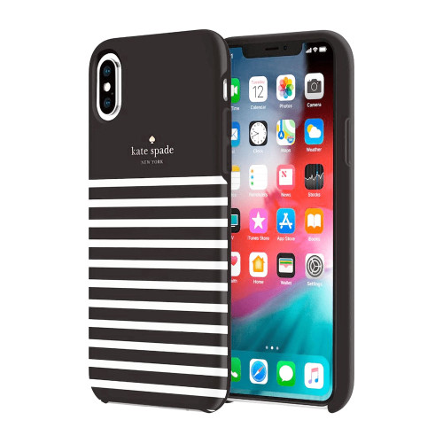 Kate Spade - Hardshell Case for Apple iPhone Xs Max - Feeder Stripe