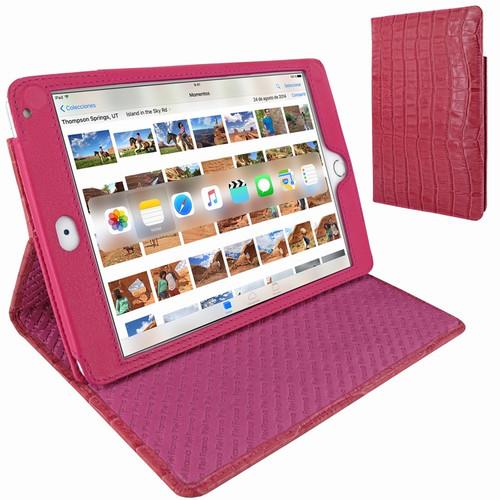 Piel Frama 722 Pink Crocodile Cinema Magnetic Leather Case for Apple iPad mini 4
