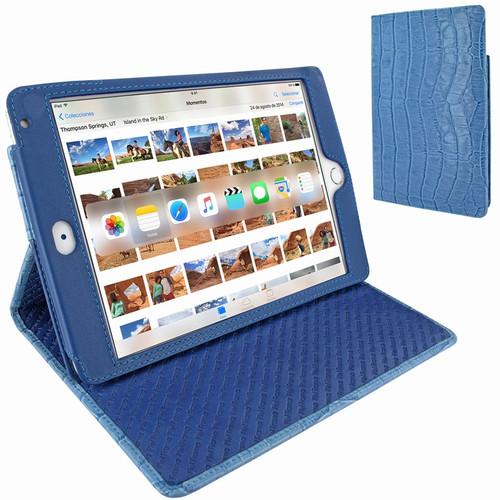 Piel Frama 722 Blue Crocodile Cinema Magnetic Leather Case for Apple iPad mini 4