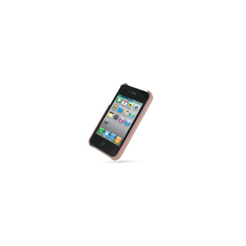 PDair Pink Leather Back Cover for Apple iPhone 4 / 4S
