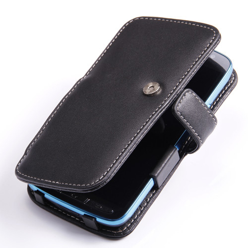 PDair Black Leather Book-Style Case for Samsung Galaxy S4 Active