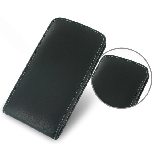 PDair Black Leather Vertical Pouch for Google Nexus 5