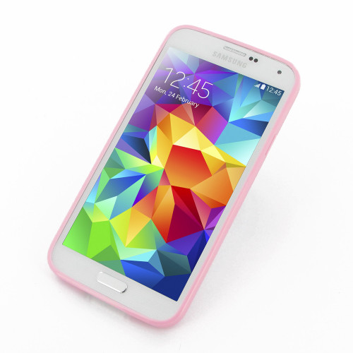 PDair Baby Pink Soft Bumper Cover for Samsung Galaxy S5