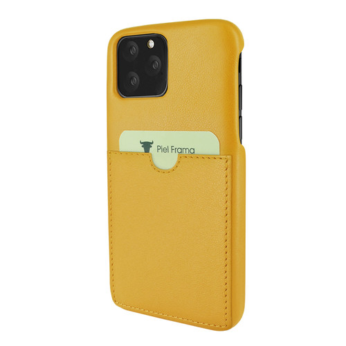 Piel Frama 835 Yellow FramaSlimGrip Leather Case for Apple iPhone 11 Pro Max
