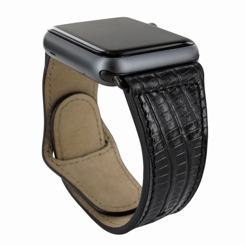 Piel Frama 733 Black Lizard Leather Strap for Apple Watch (42-44mm)