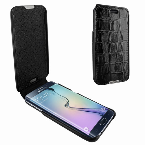 Piel Frama 719 Black Crocodile iMagnum Leather Case for Samsung Galaxy S6 edge+