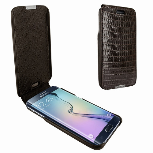 Piel Frama 719 Brown Lizard iMagnum Leather Case for Samsung Galaxy S6 edge+