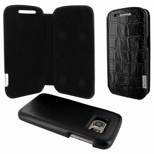 Piel Frama 742 Black Crocodile FramaSlimMagnum Leather Case for Samsung Galaxy S7
