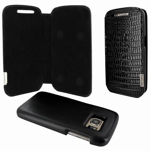 Piel Frama 742 Black Lizard FramaSlimMagnum Leather Case for Samsung Galaxy S7