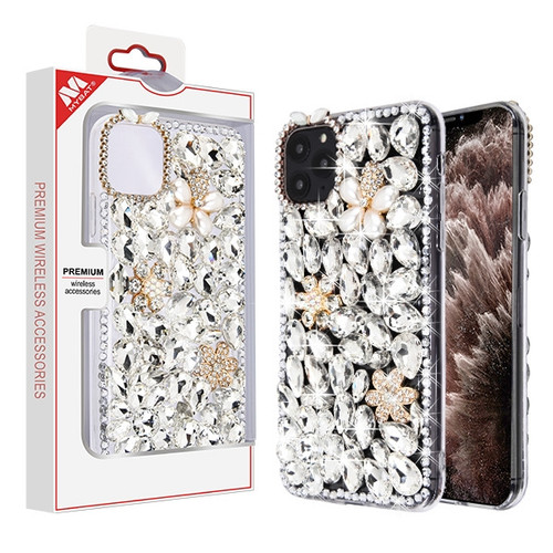 iPhone 11 Pro Max White Crystals Diamante Fusion Protector Cover (with Package)