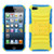 Asmyna Advanced Armor Stand Protector Cover for Apple iPhone 5s/5 - Yellow / Tropical Teal