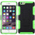 Asmyna Car Armor Stand Protector Cover (Rubberized) for Apple iPhone 6s Plus/6 Plus - Black / Electric Green