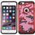 Asmyna FullStar Protector Cover for Apple iPhone 6s Plus/6 Plus - Red(camo) / Black