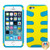 MyBat Fishbone Protector Cover for Apple iPhone 5s/5 - Rubberized Yellow / Tropical Teal